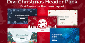 Divi Christmas Header Pack Layout on Divi Cake