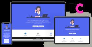 Hazel – Web Hosting Landing Page Divi Theme Layout on Divi Cake