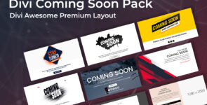 10 Divi Coming Soon Layout Pack on Divi Cake