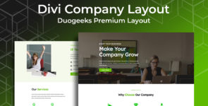 Divi Company Layout on Divi Cake