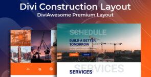 Divi Construction Layout 2 on Divi Cake