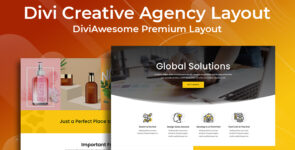 Divi Creative Agency Layout on Divi Cake