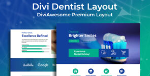 Divi Dentist Layout 2 on Divi Cake
