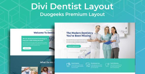 Divi Dentist Layout on Divi Cake