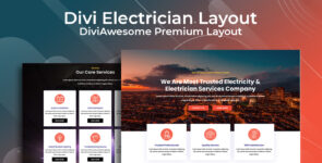 Divi Electrician Layout on Divi Cake