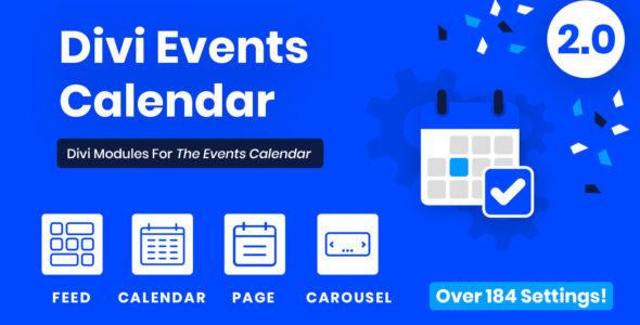 Divi Events Calendar on Divi Cake