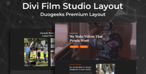 Divi Film Studio Layout on Divi Cake