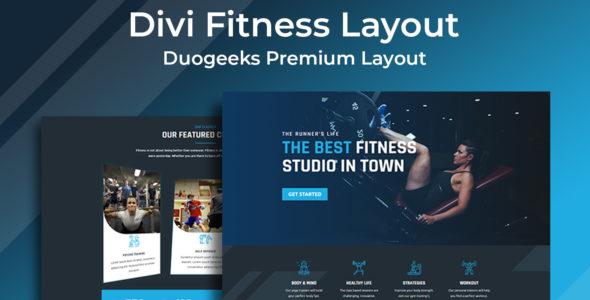 Divi Fitness Layout on Divi Cake