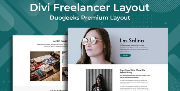 Divi Freelancer Layout on Divi Cake