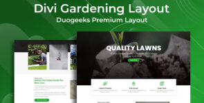 Divi Gardening Layout on Divi Cake