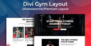 Divi Gym Layout on Divi Cake