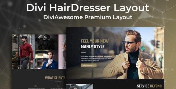 Divi Hairdresser Layout on Divi Cake