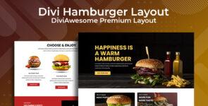 Divi Hamburger Layout on Divi Cake