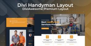 Divi Handyman Layout on Divi Cake