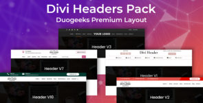 Divi Headers Layout Pack on Divi Cake