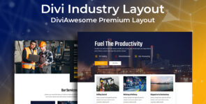 Divi Industry Layout on Divi Cake