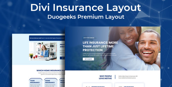 Divi Insurance Layout 2 on Divi Cake