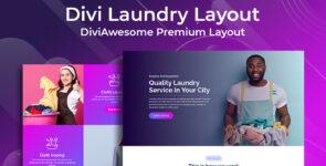 Divi Laundry Layout on Divi Cake