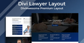 Divi Lawyer Layout 2 on Divi Cake