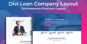 Divi Loan Company Layout on Divi Cake