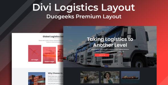 Divi Logistics Layout on Divi Cake