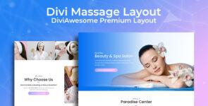 Divi Massage Layout 2 on Divi Cake