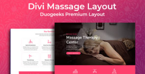 Divi Massage Layout on Divi Cake