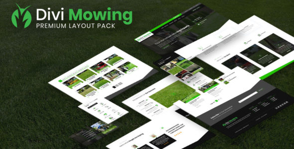 Divi Mowing Layout Pack on Divi Cake