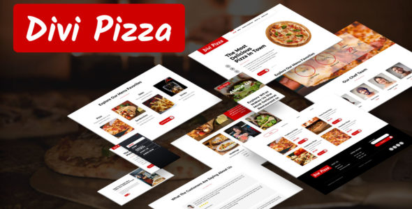 Divi Pizza Layout Pack on Divi Cake