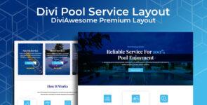Divi Pool Service Layout on Divi Cake