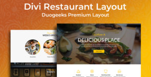 Divi Restaurant Layout on Divi Cake