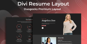 Divi Resume Layout on Divi Cake