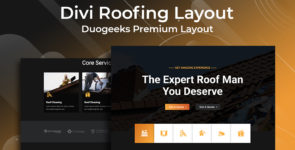Divi Roofing Layout on Divi Cake