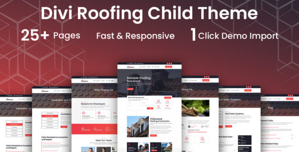 Divi Roofing Child Theme on Divi Cake