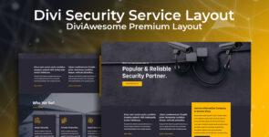 Divi Security Service Layout on Divi Cake