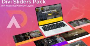 Divi Sliders Layout Pack on Divi Cake