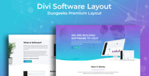 Divi Software Layout on Divi Cake