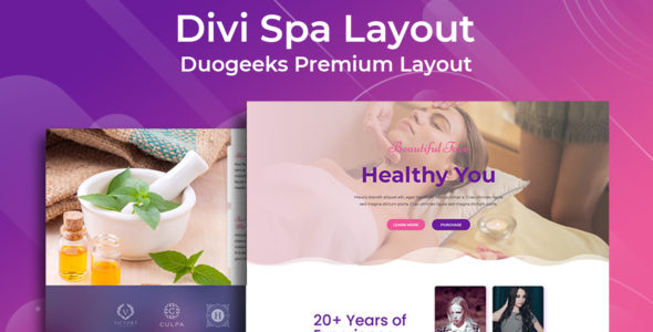 Divi Spa Layout on Divi Cake