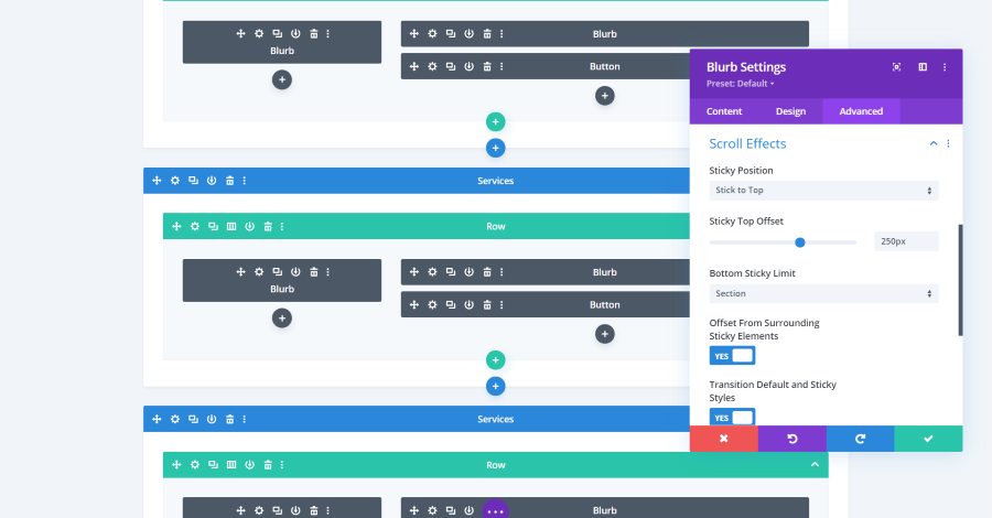 Divi Sticky Options Examples