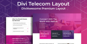 Divi Telecom Layout on Divi Cake