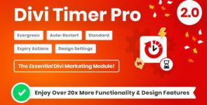 Divi Timer Pro on Divi Cake