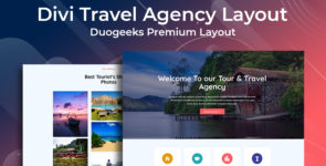 Divi Travel Agency Layout on Divi Cake