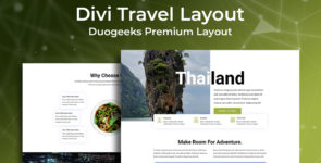 Divi Travel Layout on Divi Cake