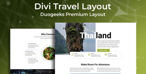 Divi Travel Layout on Divi Cake