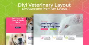 Divi Veterinary Layout on Divi Cake