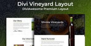 Divi Vineyard Layout on Divi Cake