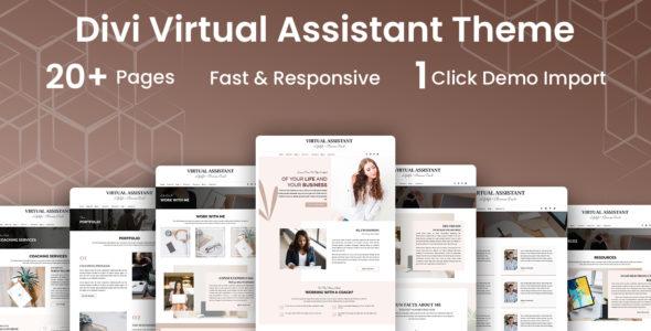 Virtual Assistant Divi Child Theme on Divi Cake