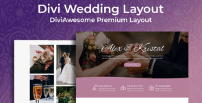 Divi Wedding Layout 2 on Divi Cake