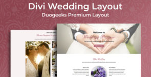 Divi Wedding Planner Layout on Divi Cake