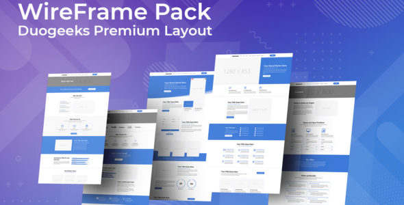 Divi Wireframe Layout Pack on Divi Cake